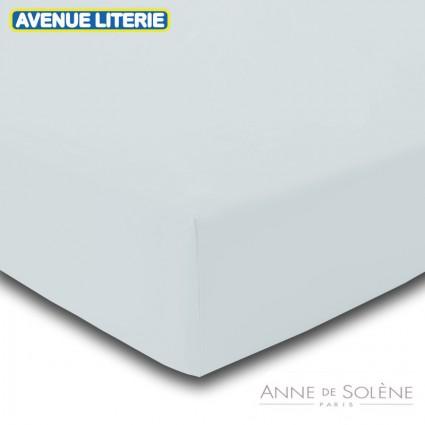 Drap Housse Uni Tourterelle Percale Anne de Solène