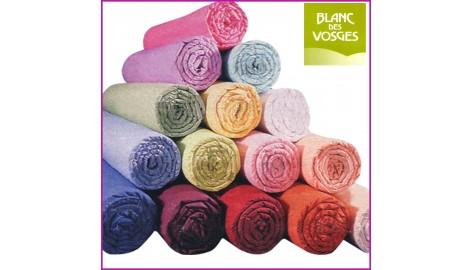 Drap Housse 100% Coton Blanc des Vosges 130 x 190 Blanc coton bdv