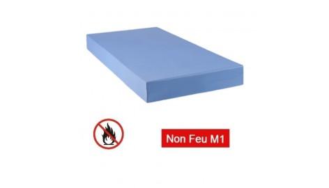 Matelas M1 non feu collectivité Bleu 90 x 190