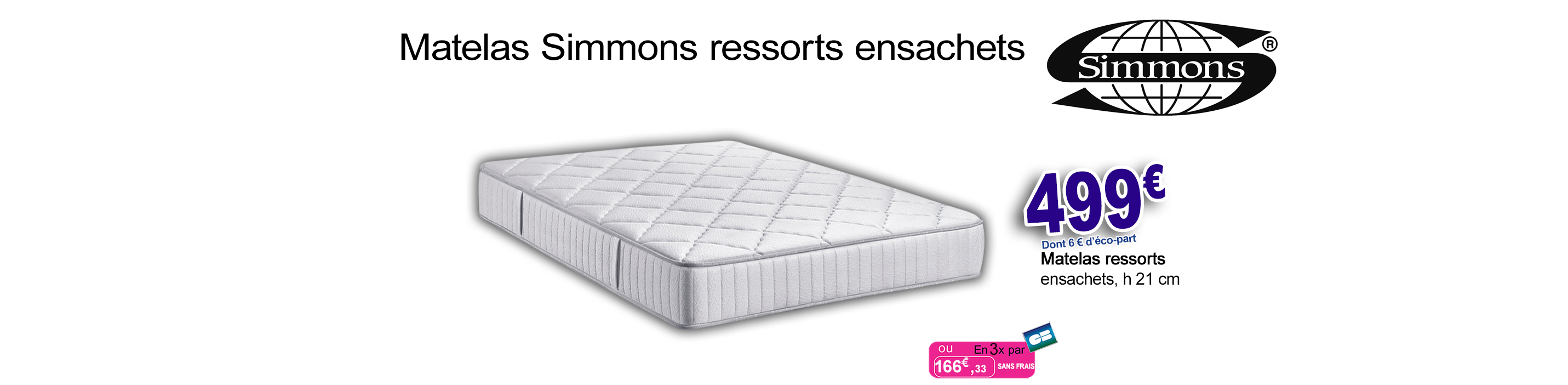 Avenue literie boutique literie sp cialiste en matelas - Matelas simmons collection quietude ...